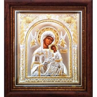 Icoana Maica Domnului Izbavitoarea, Argintata / Aurita 23 / 25 cm