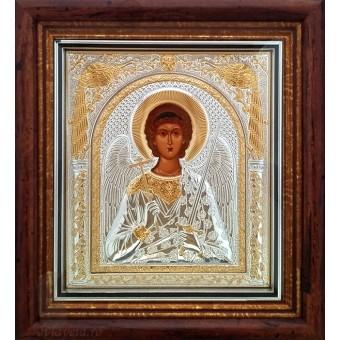 Icoana Sfantul Inger Pazitor, Argintata / Aurita 23 / 25 cm