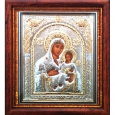 Icoana Maica Domnului Betleem, Argintata / Aurita 23 / 25 cm