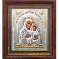 Icoana Maica Domnului de la Ierusalim, Argintata / Aurita 23 / 25 cm