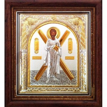 Icoana Sfantul Apostol Andrei, Argintata / Aurita 23 / 25 cm