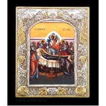 Icoana Adormirea Maicii Domnului, Argintata/Aurita