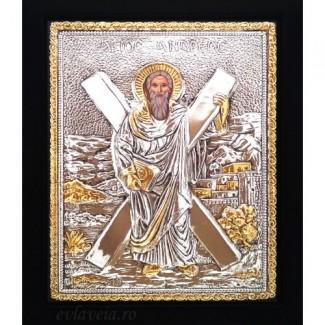 B9 - Icoana Sfantul Apostol Andrei, Argintata 19 / 24 cm
