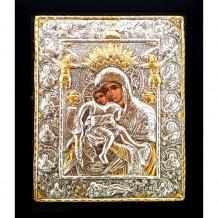 Icoana Maica Domnului Axionita, Argintata 19 / 24 cm