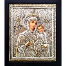 Icoana Maica Domnului Tinul, Argintata 19 / 24 cm
