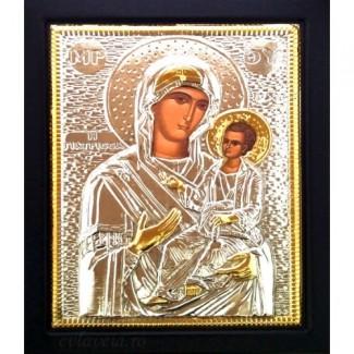 E2 - Icoana Maica Domnului Vindecatoarea, Argintata 19 / 24 cm