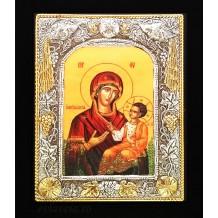 Icoana Maica Domnului Myrtidiotissa, Argintata 19 / 24 cm