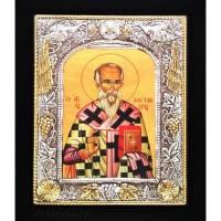Icoana Sfantul Ierarh Alexandru, Argintata 19 / 24 cm