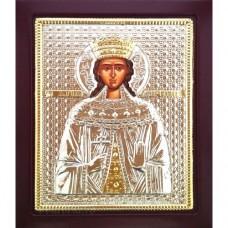 Icoana Sfanta Mucenita Irina, Argintata 19 / 24 cm