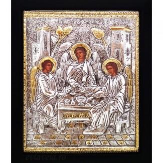 C9 - Icoana Sfanta Treime, Argintata 19 / 24 cm