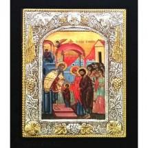 Icoana Intrarea Maicii Domnului în Biserica, Argintata 19 / 24 cm