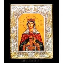 Icoana Sfanta Alexandra, Argintata 19 / 24 cm