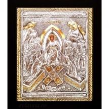 Icoana Invierea Domnului, Argintata 19 / 24 cm