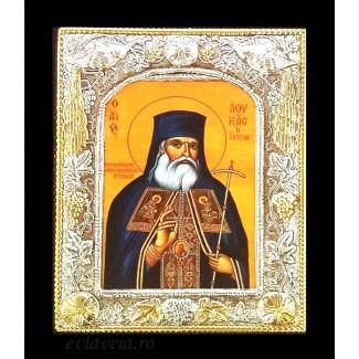 B8 - Icoana Sfantul Luca al Crimeei, Argintata 19 / 24 cm