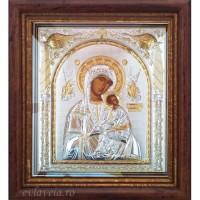 Icoana Maica Domnului Izbavitoarea, Argintata / Aurita 32 / 28 cm