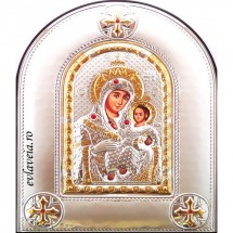 Icoana Maica Domnului Betleem, Argintata 18 / 14 cm