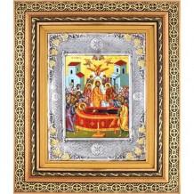 Icoana Adormirea Maicii Domnului, Argintata 32 / 38 cm