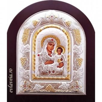 Icoana Maica Domnului de la Ierusalim, Argintata 22 / 18 cm