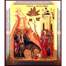 Icoana Intrarea Domnului in Ierusalim, litografie 18 / 22 cm