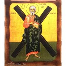 Icoana Sfantul Apostol Andrei 16 /21 cm, Pirogravura