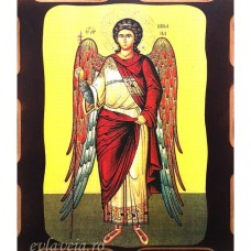 Icoana Sfantul Arhanghel Mihail 16 /21 cm, Pirogravura