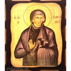 Icoana Sfanta Elisabeta din Constantinopol 16 /21 cm, Pirogravura