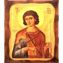 Icoana Sfantul Mucenic Fanurie 16 /21 cm, Pirogravura