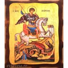 Icoana Sfantul Mucenic Gheorghe 16 /21 cm, Pirogravura