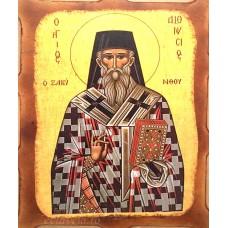 Icoana Sfantul Dionisie din Zakynthos 16 /21 cm, Pirogravura
