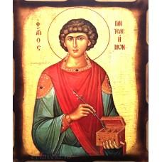 Icoana Sfantul Pantelimon 16 /21 cm, Pirogravura