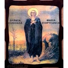 Icoana Sfanta Cuvioasa Maria Egipteanca 16 /21 cm, Pirogravura