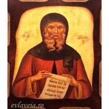 Icoana Sfantul Antonie cel Mare 10 /13 cm, Pirogravura