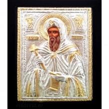 Icoana Lemn / Metal 19 / 24 cm Sfantul Antonie cel Mare