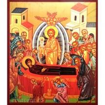 Icoana Adormirea Maicii Domnului, litografie 20 / 24 cm