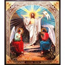 Icoana Invierea Domnului, litografie 20.5 / 24.5 cm