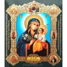 Icoana Maica Domnului Floarea de Crin, medalion 15 / 18 cm