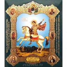 Icoana Sfantul Mucenic Gheorghe, medalion 15 / 18 cm