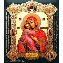Icoana Maica Domnului din Vladimir, medalion 15 / 18 cm