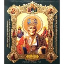 Icoana Sfantul Ierarh Nicolae, medalion 15 / 18 cm