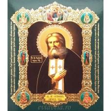 Icoana Sfantul Serafim de Sarov, medalion 15 / 18 cm