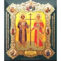 Icoana Sfintii Imparati Constantin si Elena, medalion 15 / 18 cm
