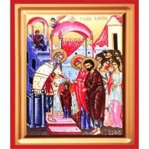 Icoana Intrarea Maicii Domnului în Biserica, pictata 19 / 25 cm