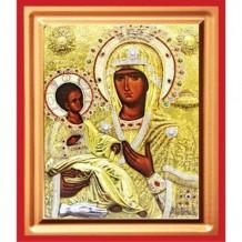 Icoana Maica Domnului Trihirussa, pictata 19 / 25 cm