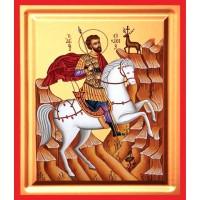 Icoana Sfantul Eustatie, pictata 19 / 25 cm