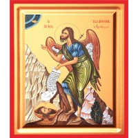 Icoana Sfantul Ioan Botezatorul, pictata 19 / 25 cm