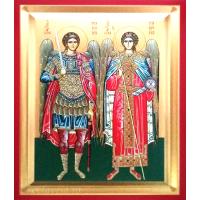 Icoana Arhangheli Mihail si Gavriil, pictata 19 / 25 cm