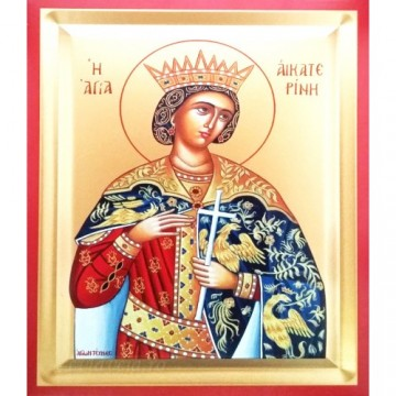 Icoana Sfanta Ecaterina, pictata 19 / 25 cm