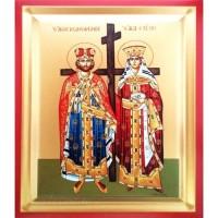 Icoana Sfintii Imparati Constantin si Elena, pictata 19 / 25 cm