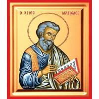 Icoana Sfantul Apostol Matei, pictata 19 / 25 cm