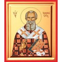 Icoana Sfantul Atanasie, pictata 19 / 25 cm